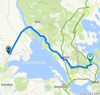 Cracking ride in Piteå