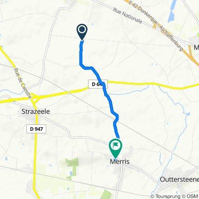 Route from Rue de Saint-Omer 2119, Méteren