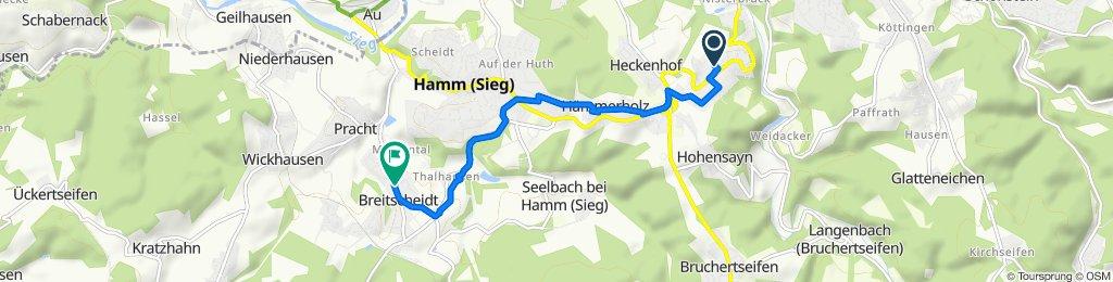Baumschulenweg 3, Roth nach Raiffeisenstraße, Breitscheidt
