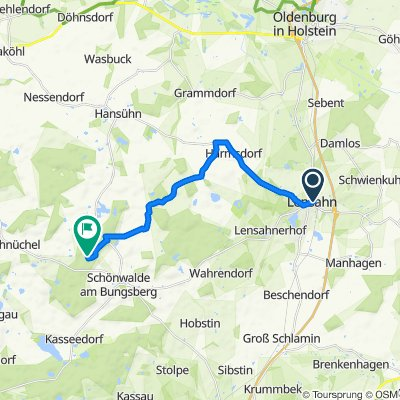Hohenkrogstraße 2, Lensahn to Schloßgebiet 9, Schönwalde am Bungsberg