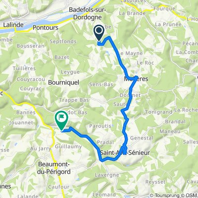 Itinéraire vers La Borie Basse, Beaumont-du-Périgord