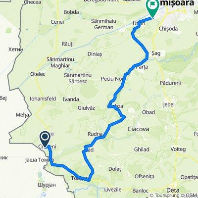 Cruceni - Timisoara Ride