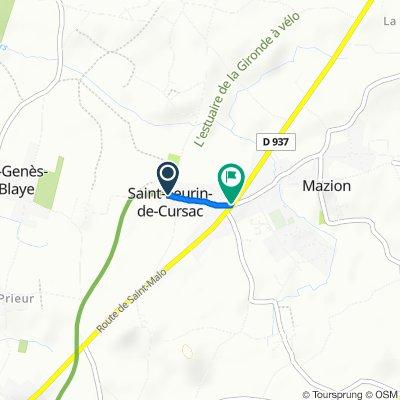 De 3 Route de Muchit, Saint-Seurin-de-Cursac à 67 Route de Saint-Malo, Saint-Seurin-de-Cursac