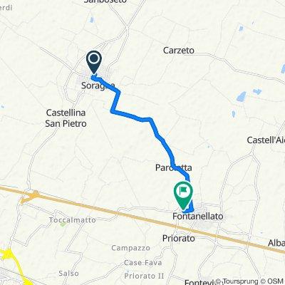 Via Veneto 1/A, Soragna to Via Carlo Aimi 16/B, Fontanellato