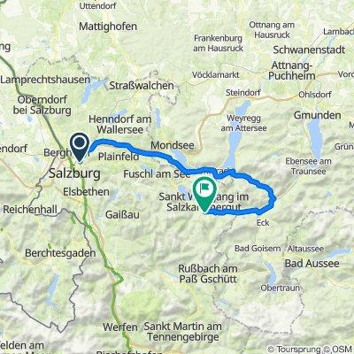 Salzburg – Mondsee - Attersee - Wolfgangsee via Weißenbachtal