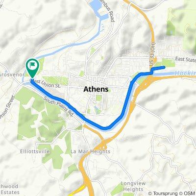 510 W Union St, Athens to 510 W Union St, Athens