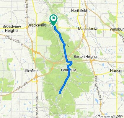 Pine Hill Rd, Brecksville to Valley Trail, Brecksville
