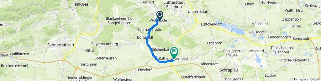 Türkeistraße 15, Eisleben nach Hornburger Straße 1, Eisleben