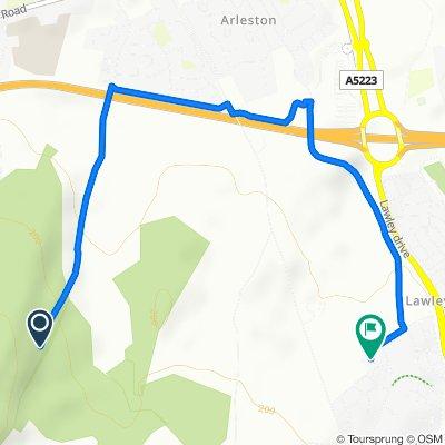 Route to 5 Glendale Gardens, Telford