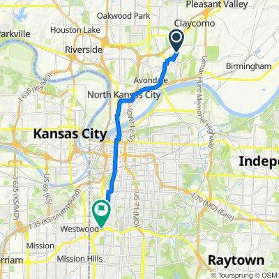 5013 NE 45th St, Kansas City to 4771 Jefferson St, Kansas City