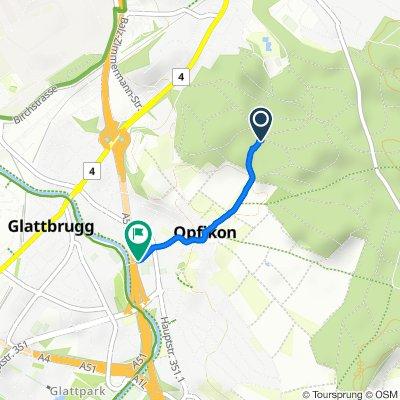 Chaibenrüti Weg, Opfikon to Mühlegasse 1, Opfikon