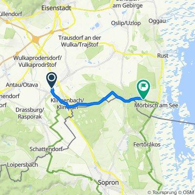 Route von Blumengasse, Zagersdorf