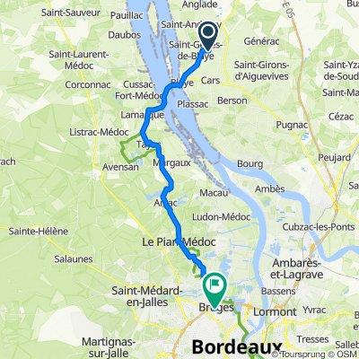 Itinéraire à partir de Place Maurice Fournier 6, Saint-Seurin-de-Cursac