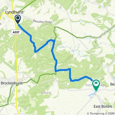 Beechen Lane, Lyndhurst to Hatchet Pond, East Boldre