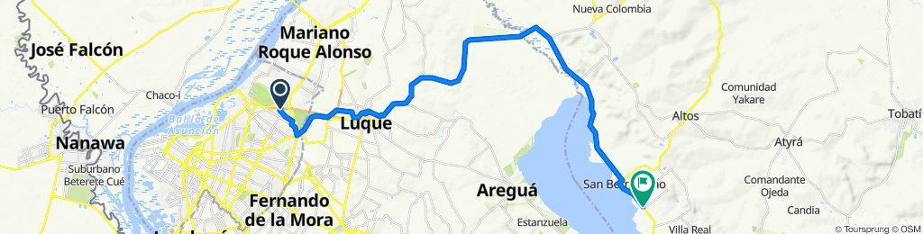 Ruta desde Colectora Itapúa Sur, Asunción