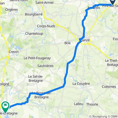De 5 Ruelle de la Herverie, Piré-sur-Seiche à 13–27 Rue du Pavé, Bain-de-Bretagne