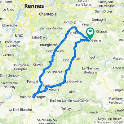De 5 Rue de Chaumère, Piré-sur-Seiche à 5 Rue de Chaumère, Piré-sur-Seiche