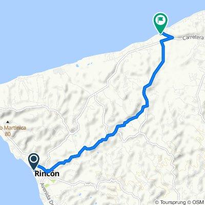 Route from 71–77 Calle Cambija, Rincón