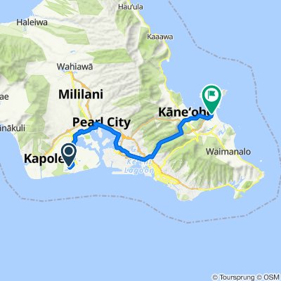 91-1007 Waiʻilikahi St, Ewa Beach to 533 Ilimano St, Kailua