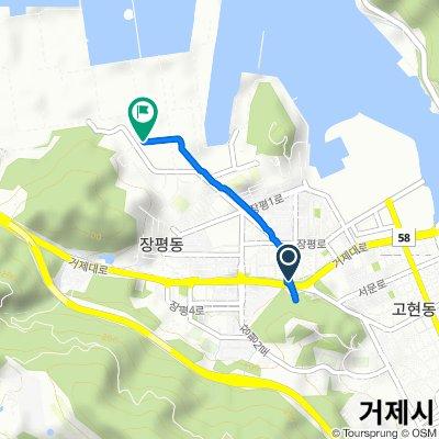 От Jangpyeong-dong 38, Geoje-si до Jangpyeong-dong 935-19, Geoje-si