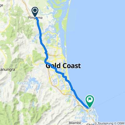 Pimpama Jacobs Well Road, Pimpama to 15 Marine Parade, Coolangatta