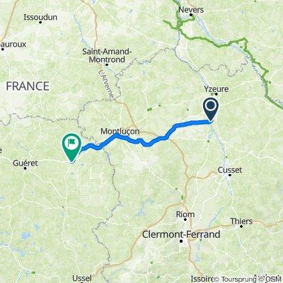 Route nach 25–31 Place de l'Église, Gouzon