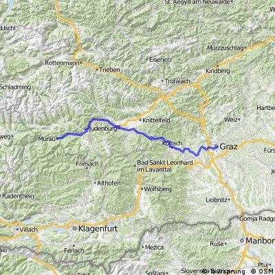 Graz-Steinberg-Stallhofen-Gaberl-Judenburg-Murau