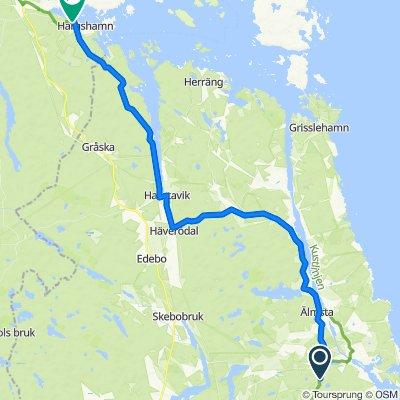 Rådavägen, Norrtälje nach Banvägen 18, Hargshamn