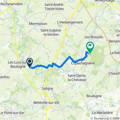 Itinéraire à partir de 300 Constantine, Les Lucs-sur-Boulogne