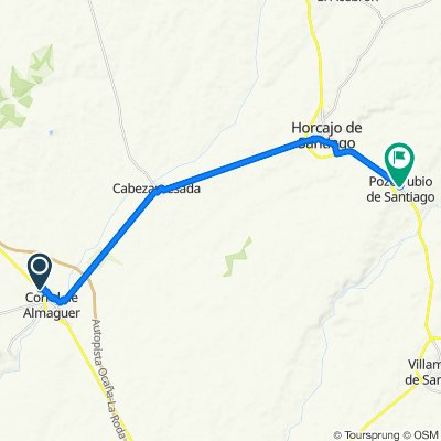 De Camino de Villatobas, Corral de Almaguer a Calle Progreso, 5, Pozorrubio de Santiago