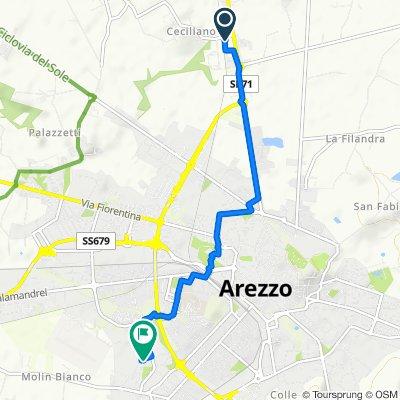 Da Località Casanuova di Ceciliano 73/5, Ceciliano a Via Eugenio Montale 99, Arezzo