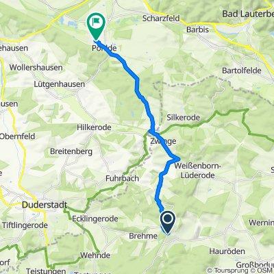 Sonnenstein, Holungen nach Ostpreußenweg 1A, Herzberg am Harz
