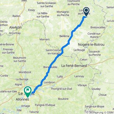 Itinéraire vers 23 Rue Henri, Le Mans