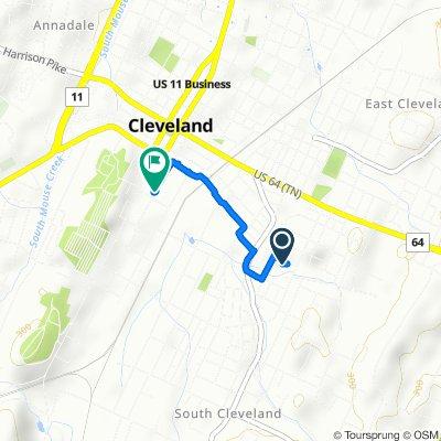 722 Sixth St SE, Cleveland to 155 Sixth St SE, Cleveland