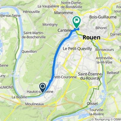 De D51, Hautot-sur-Seine à 72 Rue Guillaume d'Estouteville, Rouen