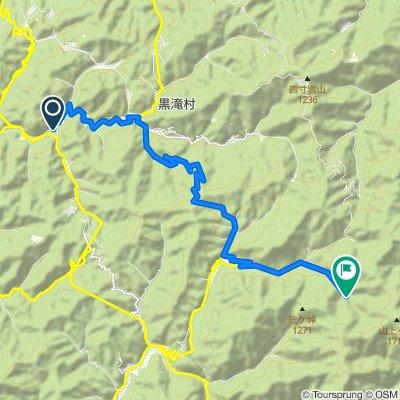 黒滝〜蝙蝠の岩屋〜ごろごろ水〜すずかけの道