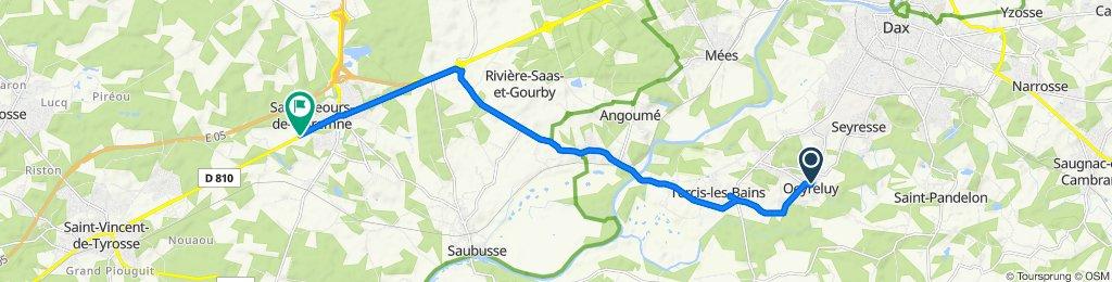 De 418 Rue du Bourg, Oeyreluy à 41 Rue des Artisans, Saint-Geours-de-Maremne