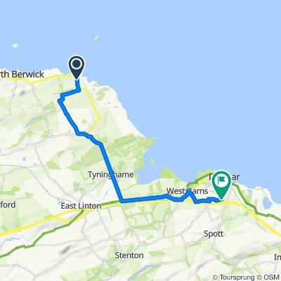 A198, North Berwick to 10 John Muir Gardens, Dunbar