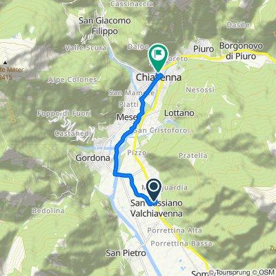 Da Via Spluga 78, San Cassiano a Viale Maloggia 8, Chiavenna