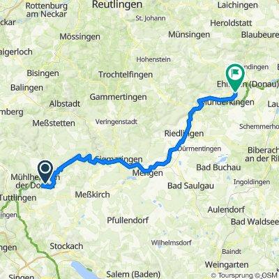 Etape 5 : Fridingen - Ehingen
