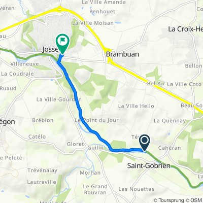 Itinéraire vers 2 Rue de la Fontaine, Josselin