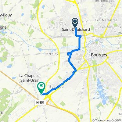 De Rue Louis Armand 7, Saint-Doulchard à Rue Ferdinand de Lesseps, Bourges