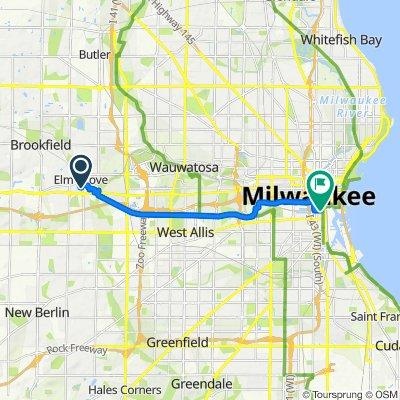 712 Elm Grove Rd, Elm Grove to 234 W Florida St, Milwaukee