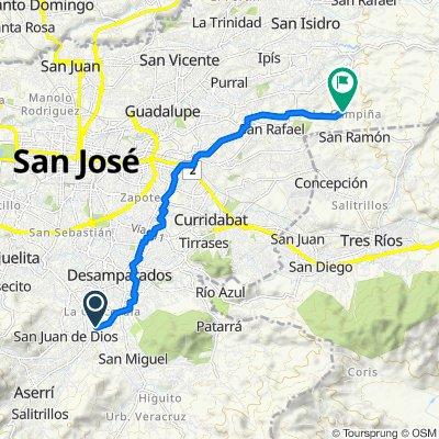 De Calle los Sauces, San Miguel a Unnamed Road, San Rafael