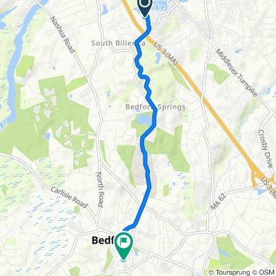100 Marshall St, Billerica to 1–9 Hartford St, Bedford
