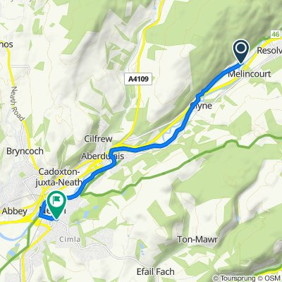 Neath River Route - Reverse