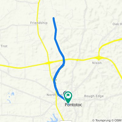 Tanglefoot Trail, Pontotoc to 106 S College St, Pontotoc