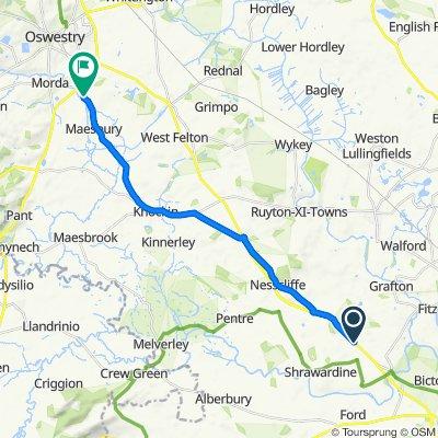 Holyhead Road, Shrewsbury to Maesbury Road, Oswestry