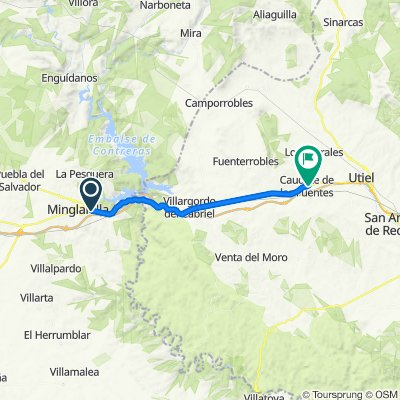 N-III 228, Minglanilla nach Calle Valencia 17, Caudete de las Fuentes