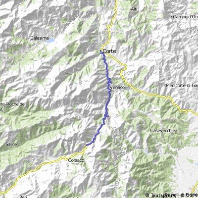 Z Corte na Col de Vizzavona kratší